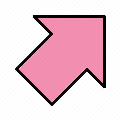 arrows, direction, right, up icon