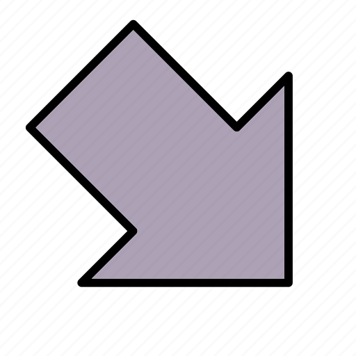 arrow, down, download, right icon