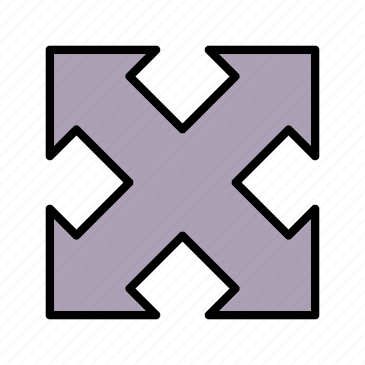arrow, arrows, direction, expand icon