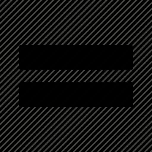equal, mark, math icon