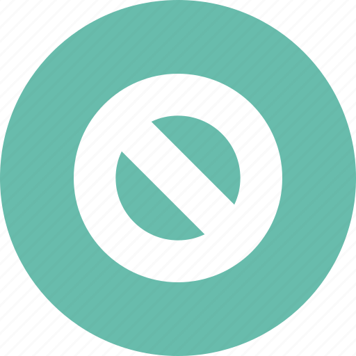 forbidden, prohibited, road icon