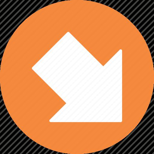 down, download, right icon