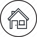 architecture, building, construction, home, house, icon, line icon