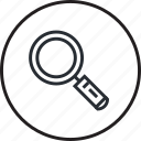 find, magnifier, search, browser, line, zoom
