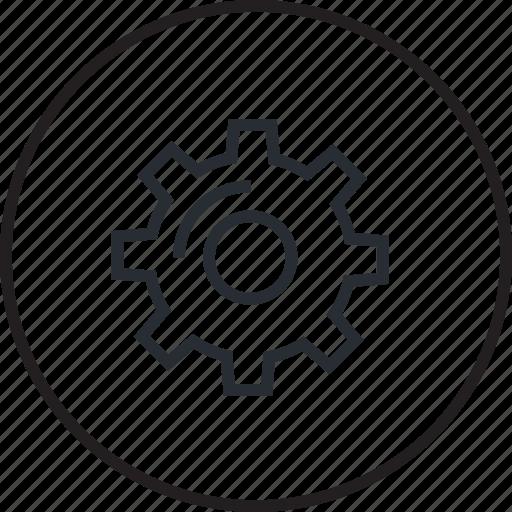 gear, icon, line, maintenance, seo, setting, tool icon