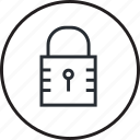 icon, line, lock, password, protection, safe, security icon