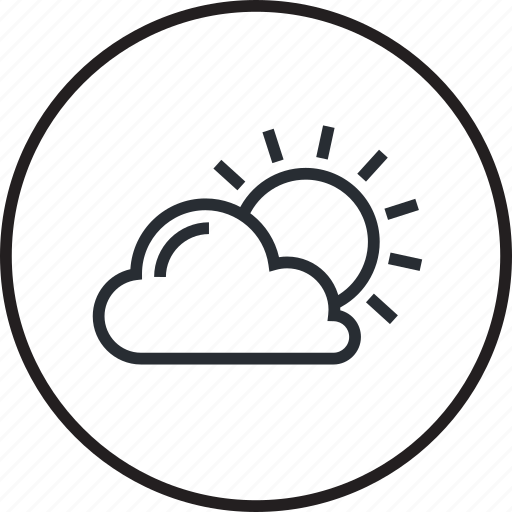 cloud, forecast, icon, information, line, nature, weather icon