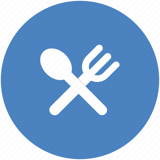 circle, dining, eat, eating, food, orange, restaurant icon icon