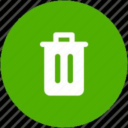 circle, delete, garbage, recycle, red, rubbish, trash icon icon