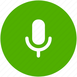 circle, mic, microphone, recording, speaker, speech icon icon