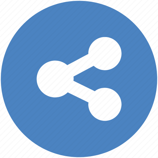 android, blue, circle, network, share, sharing, social icon icon
