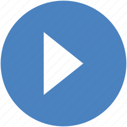 circle, movie, next, play, start, video icon icon