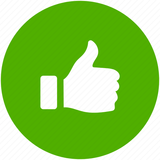 approve, blue, circle, like, thumbs, up, vote icon icon