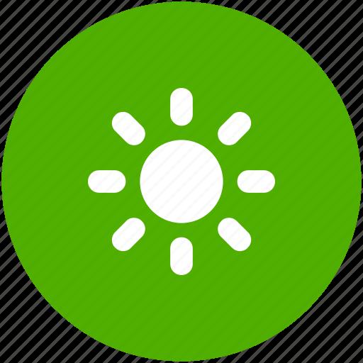 brightness, circle, energy, solar, sun, sunny, weather icon icon