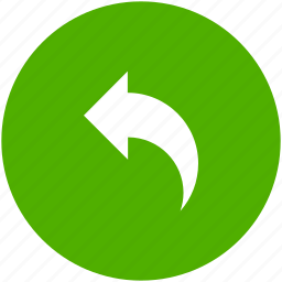 arrow, blue, circle, previous, reply, respond, response icon icon