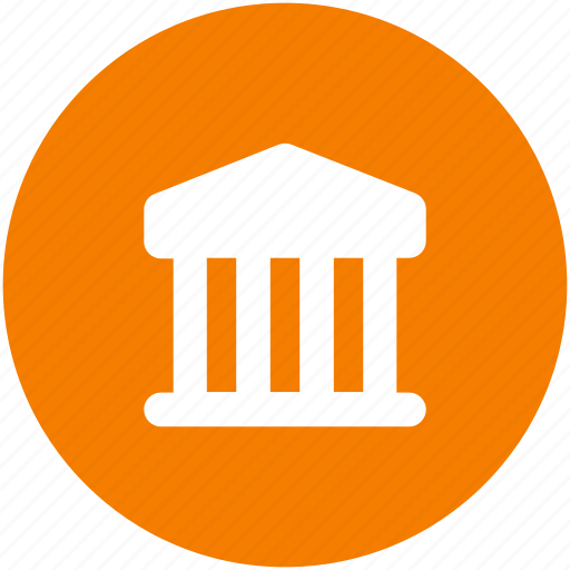bank, circle, finance, financial institution, street, treasury, wall icon icon