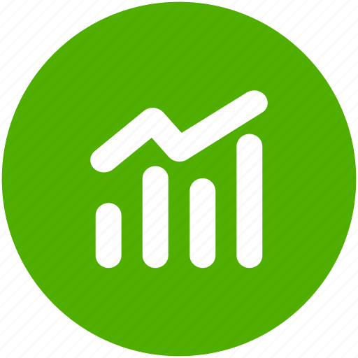 analytics, blue, chart, circle, earnings, finance, stock market icon icon