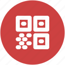 barcode, circle, code, qr, qrcode, quick response icon icon