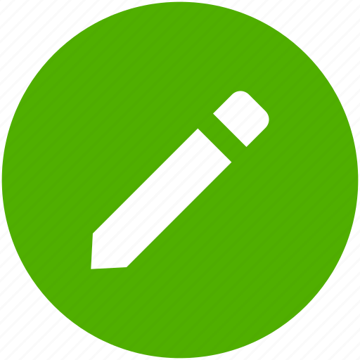 circle, compose, draw, edit, pencil, write icon icon