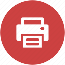 circle, copier, office, print, printer, printing icon icon