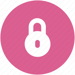 circle, lock, privacy, safe, secure, security icon icon