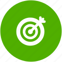 bullseye, business success, circle, goal, marketing, target icon icon