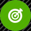 bullseye, business success, circle, goal, marketing, target icon icon
