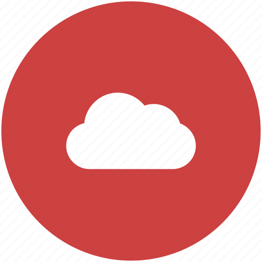 circle, cloud, computing, hosting, services, storage icon icon