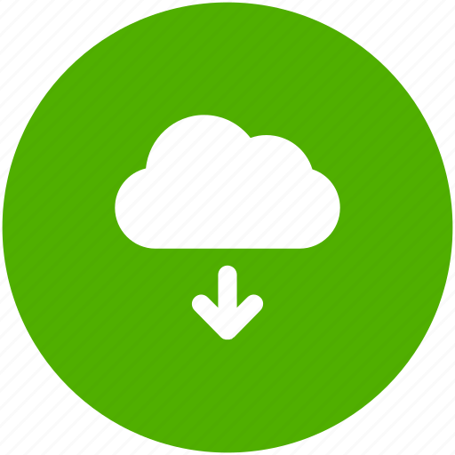 backup, circle, cloud, download, ftp, storage icon