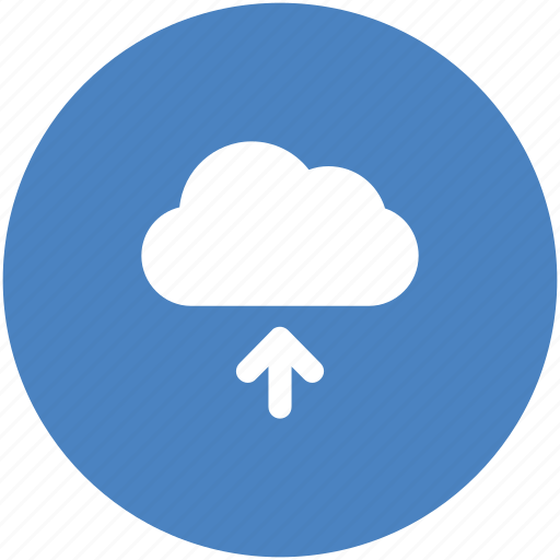 backup, blue, circle, cloud, ftp, storage, upload icon icon