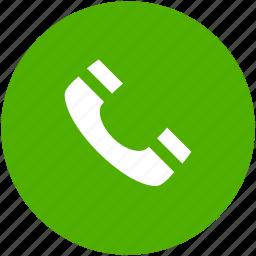 accept, call, circle, contact, green, phone, talk icon icon