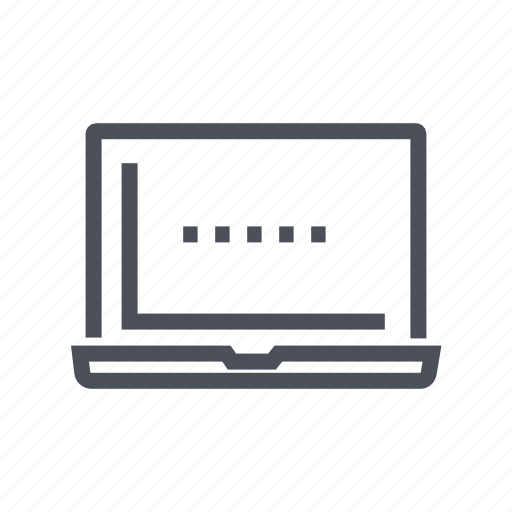 computer, device, display, laptop, screen icon