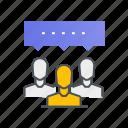 conversation, discussion, forum, message, talk icon