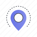 gps, location, navigation, pin, pointer icon