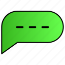 chat, comment, communication, conversation icon