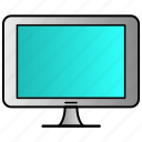 computer, device, monitor, screen icon