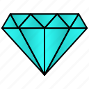 diamond, gem, jewelry, premium, stone icon