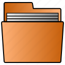 documents, folder, paper, user icon