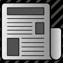 media, news, newspaper, online, print icon