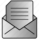 envelope, inbox, mail, open icon