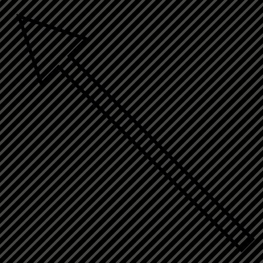 angle, arrow, left, up icon