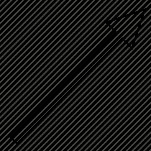 angle, arrow, right, up icon
