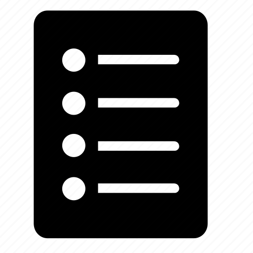 checklist, document icon