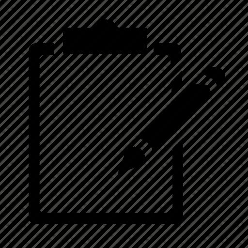 clipboard, edit, write icon