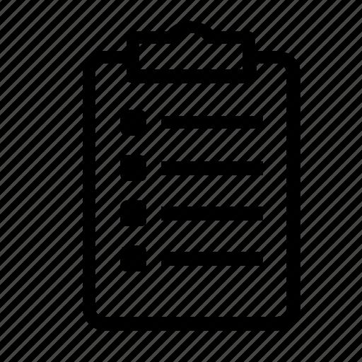 checklist, clipboard icon