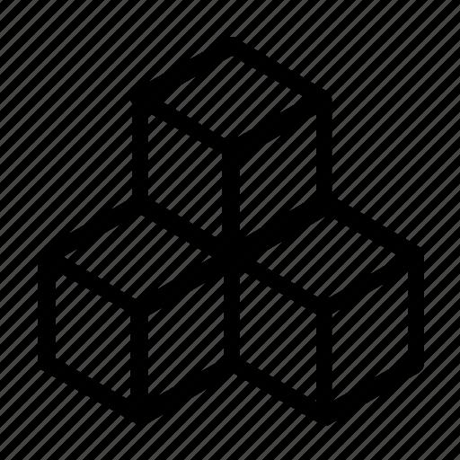 cubes, elements icon