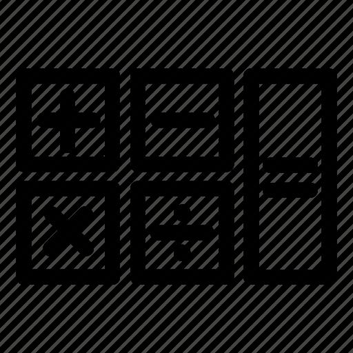 budget calculation calculator education mathematics maths icon