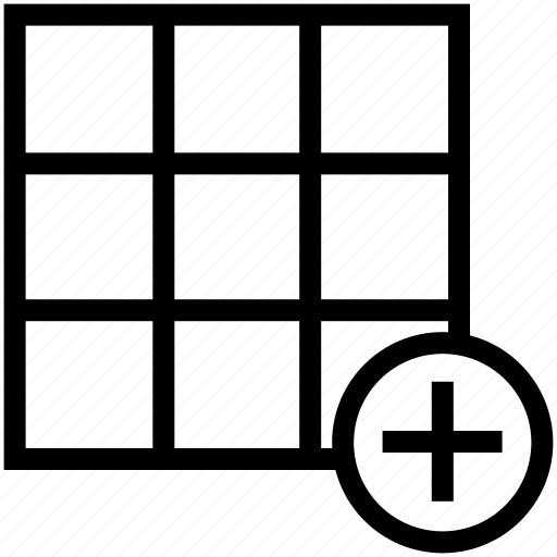 insert cells, insert column, insert row, insert table, processing table icon
