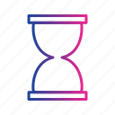 glass, hourglass, time, timer, wait, wait timer icon