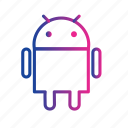 android, device, mobile, robotic, technology icon